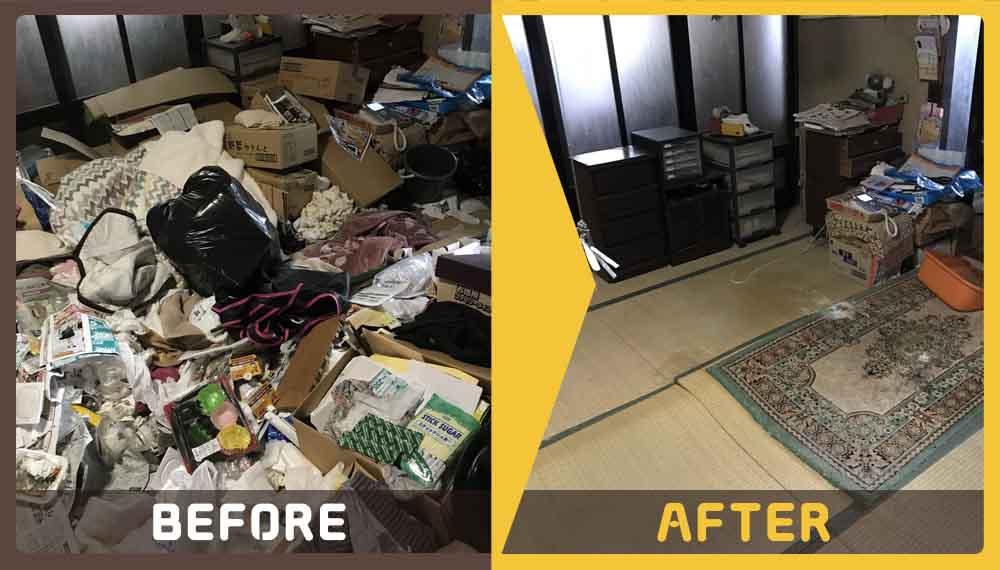 片付けが苦手で、お部屋に溜まってしまったゴミの処分にお困りのお客様よりご依頼頂きました。