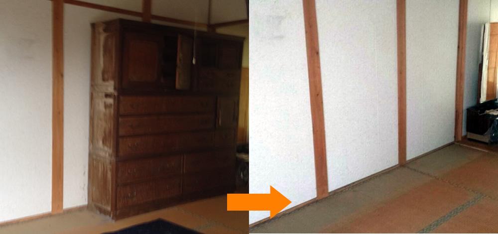 【津市】大型家具の階段おろしも作業員が完全対応