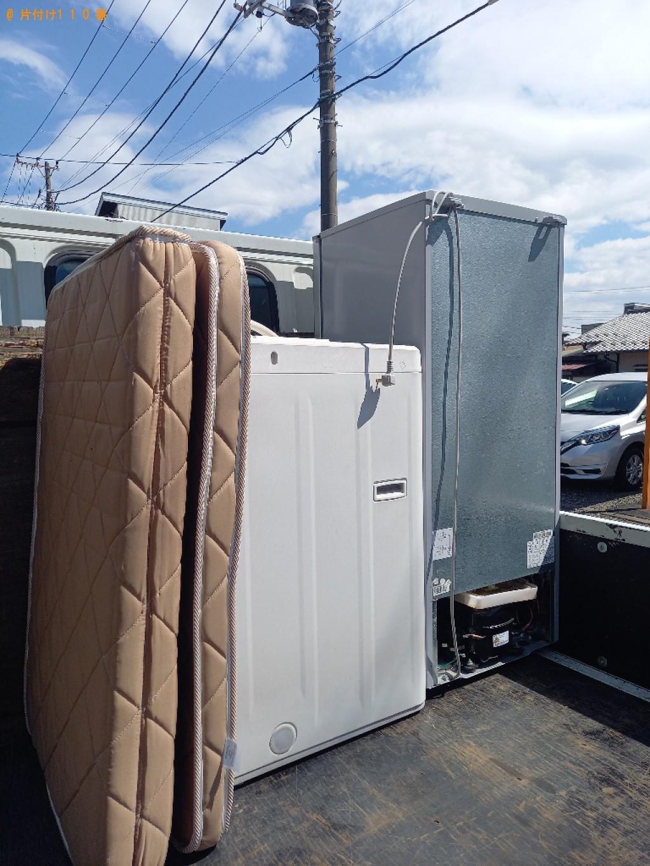 【伊勢市】冷蔵庫、洗濯機、本棚、シングルベッドマットレス等の回収